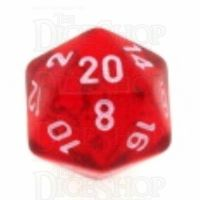Chessex Translucent Red & White D20 Dice