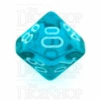 Chessex Translucent Teal & White Percentile Dice