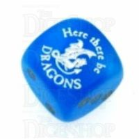 Chessex Velvet Bright Blue Here There Be Dragons D6 Spot Dice