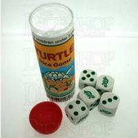 Koplow White & Green Turtle 5 x D6 Spot Dice Game