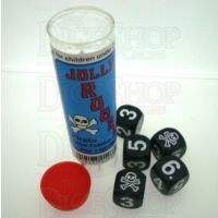 Koplow Jolly Roger Pirate 5 x D6 Spot Dice Game