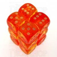 D&G Gem Blitz Red 12 x D6 Dice Set