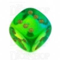 D&G Gem Blitz Aqua 15mm D6 Spot Dice