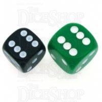D&G Opaque Green JUMBO 18mm D6 Spot Dice