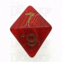 D&G Marble Red & White D8 Dice