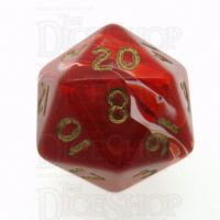 D&G Marble Red & White D20 Dice