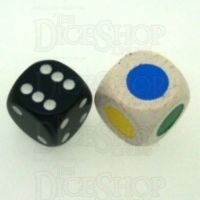 Koplow Wooden Colour Single Spot JUMBO 18mm D6 Dice