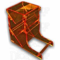 Litko Acrylic Dice Tower Fluorescent Amber - ABR