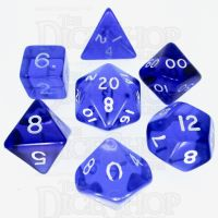 D&G Gem Blue 7 Dice Polyset