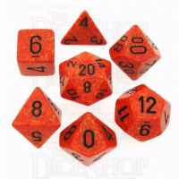 Chessex Speckled Fire 7 Dice Polyset