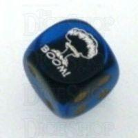 Chessex Gemini Black & Blue BOOM Logo D6 Spot Dice