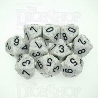 Chessex Speckled Arctic Camo 10 x D10 Dice Set