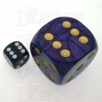 D&G Pearl Purple & Gold MASSIVE 36mm D6 Spot Dice