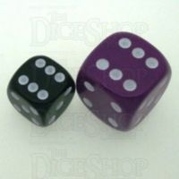 D&G Opaque Purple JUMBO 22mm D6 Spot Dice