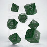 Q Workshop Pathfinder Kingmaker Green & Silver 7 Dice Polyset