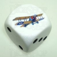 D&G Plane Sopwith Snipe (2) Logo 22mm D6 Spot Dice - Discontinued
