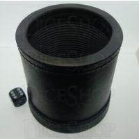 "Koplow Premium Quality Black Leather Dice Cup 3.75"" Diameter"
