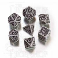 Q Workshop Celtic 3D Grey & Black 7 Dice Polyset