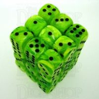 Chessex Vortex Bright Green 36 x D6 Dice Set