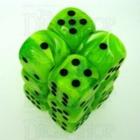 Chessex Vortex Bright Green 12 x D6 Dice Set
