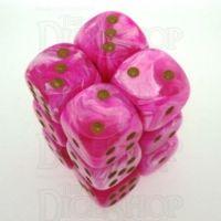 Chessex Vortex Pink 12 x D6 Dice Set