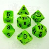 Chessex Vortex Bright Green 7 Dice Polyset