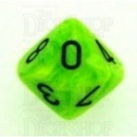 Chessex Vortex Bright Green D10 Dice