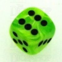 Chessex Vortex Bright Green 16mm D6 Spot Dice