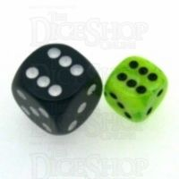 Chessex Vortex Bright Green 12mm D6 Spot Dice