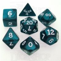 Koplow Pearl Emerald 7 Dice Polyset