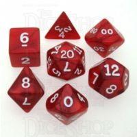 Koplow Pearl Red 7 Dice Polyset