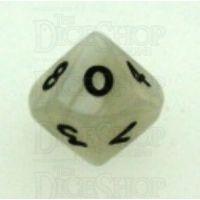 Koplow Pearl White D10 Dice