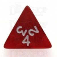 Koplow Pearl Red D4 Dice