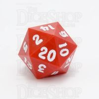 GameScience Opaque Crimson & White Ink D20 Dice