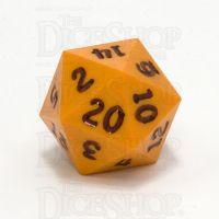 GameScience Opaque Pumpkin & Black Ink D20 Dice