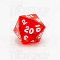 GameScience Gem Ruby & White Ink D20 Dice