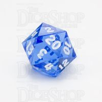 GameScience Gem Sapphire & White Ink D20 Dice