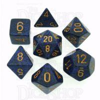 Chessex Speckled Golden Cobalt 7 Dice Polyset