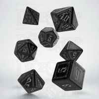 Q Workshop Pathfinder Carrion Crown Black & Silver 7 Dice Polyset