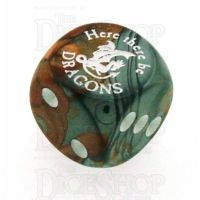 Chessex Gemini Copper & Steel Here There Be Dragons D6 Spot Dice