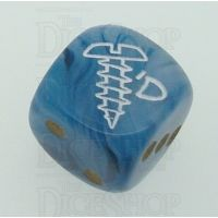 Chessex Phantom Teal SCREWED Logo D6 Spot Dice