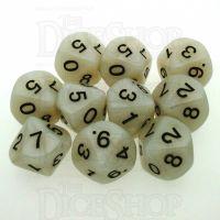 Koplow Pearl White 10 x D10 Dice Set