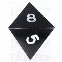 GameScience Opaque Coal Black & White Ink D8 Dice