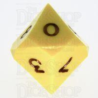 GameScience Opaque Saffron Yellow & Black Ink D10 Dice