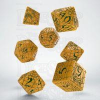 Q Workshop Pathfinder Serpent's Skull Yellow & Green 7 Dice Polyset
