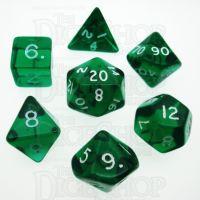 D&G Gem Green 7 Dice Polyset