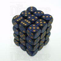 Chessex Speckled Golden Cobalt 36 x D6 Dice Set