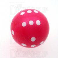 Koplow Opaque Pink Round 22mm D6 Spot Dice