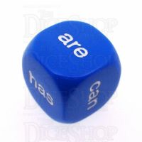 Koplow Opaque Blue Language Being and Helping Verbs D6 Dice