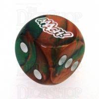Chessex Gemini Copper & Green AAAGH Logo D6 Spot Dice